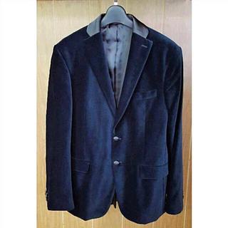 ザラ(ZARA)の売切り‼️ ZARA MAN ネイビーベルベットジャケット 50(テーラードジャケット)