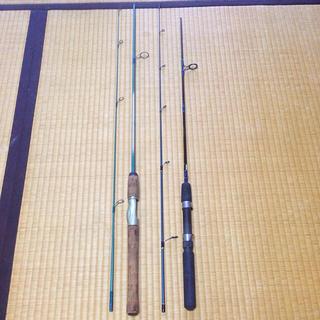 ダイワ(DAIWA)のアウトドアファミリーフィッシング ルアーエサ釣り用 スピニングロッド 2本セット(ロッド)