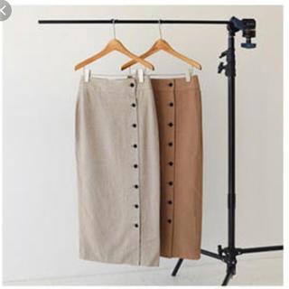 トゥデイフル(TODAYFUL)のtodayful  リネンボタンスカート(ロングスカート)