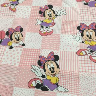 ディズニー(Disney)のSale(● ˃̶͈̀ロ˂̶͈́)੭ꠥ⁾⁾ミニーちゃん大柄♡ビンテージシーツ (生地/糸)