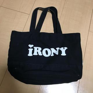 アイロニー(IRONY)のIRONYトートバック キャンバス 黒 ブラック ミニ  (トートバッグ)
