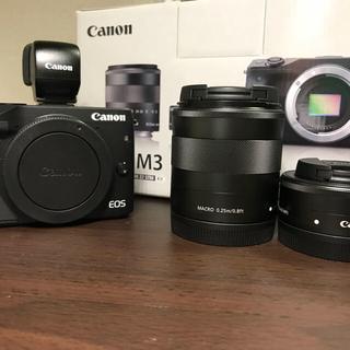 キヤノン(Canon)の【EVFセット!】Canon EOS M3 ダブルレンズキット(ミラーレス一眼)