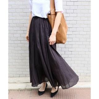 イエナ(IENA)の新品タグ付18SSコットンボイル ギャザーパネルスカート(ロングスカート)