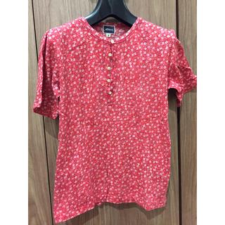 フォーティーファイブアールピーエム(45rpm)の45rpm Tシャツ  花柄 赤(Tシャツ(半袖/袖なし))