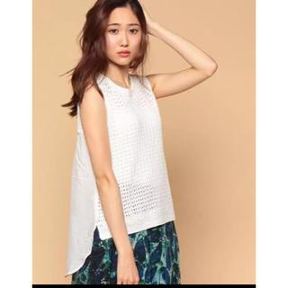 アナイ(ANAYI)のアナイ ガラアミ フハクキリカエプルオーバー 美品(Tシャツ(半袖/袖なし))