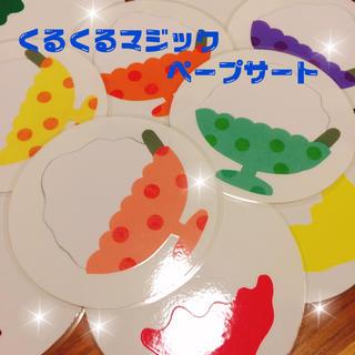 かき氷 くるくるマジックシアター ☆  ペープサート(型紙/パターン)