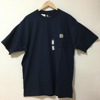 カーハート(carhartt)の新品 US Carhartt カーハート 半袖ポケット Tシャツ ネイビー M(Tシャツ/カットソー(半袖/袖なし))
