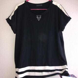 アンビー(ENVYM)のENVYM◆ロゴラインTワンピ(Tシャツ(半袖/袖なし))