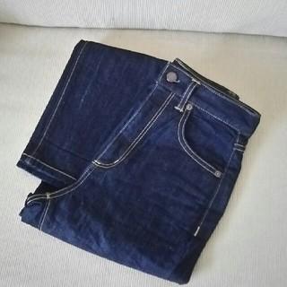 ジーユー(GU)の美品 一度着用 gu ハイウエストストレートジーンズ(デニム/ジーンズ)
