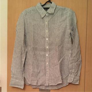 ムジルシリョウヒン(MUJI (無印良品))の無印良品 麻 ストライプシャツ(シャツ/ブラウス(長袖/七分))