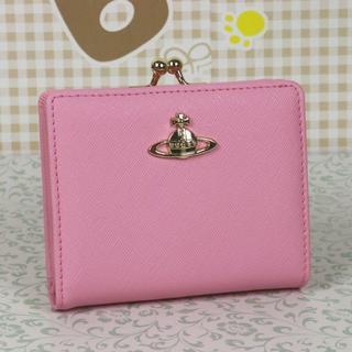 ヴィヴィアンウエストウッド(Vivienne Westwood)のヴィヴィアンウエストウッド 折財布 がま口財布 薄いピンク(財布)