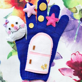 食いしん坊おばけ ♡ 手袋シアター 保育士(知育玩具)