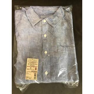 ムジルシリョウヒン(MUJI (無印良品))の翌日発送可☺︎新品タグ付き ストライプシャツ 通勤 通学(シャツ)