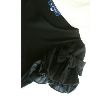 エムズグレイシー(M'S GRACY)の袖リボントップス♡ブラック(Tシャツ(半袖/袖なし))