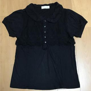 シンシア(cynthia)の襟付き刺繍レースカットソー(Tシャツ(半袖/袖なし))