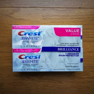 Crest - 【116g x 2本】クレスト 3D ホワイト ブリリアンス
