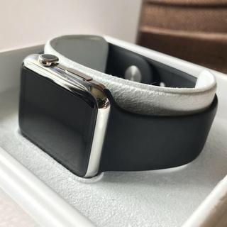 アップルウォッチ(Apple Watch)のApple watch ステンレス 42mm 高級(腕時計(デジタル))