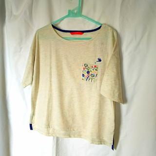 グラニフ(Design Tshirts Store graniph)の新品☆グラニフ  刺繍Tシャツ  半袖☆フリーサイズ(Tシャツ(半袖/袖なし))