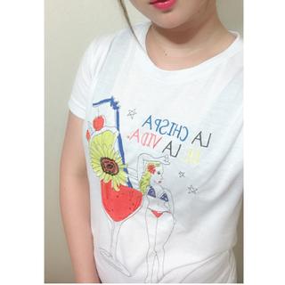 アバンリリー(Avan Lily)のAvan Lily*サマー刺繍Tシャツ(Tシャツ(半袖/袖なし))