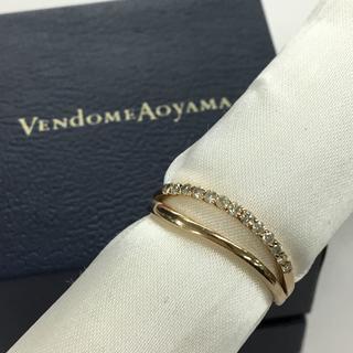 ヴァンドームアオヤマ(Vendome Aoyama)のヴァンドーム青山 K18ピンクゴールド ダイヤモンドリング 0.14ct(リング(指輪))