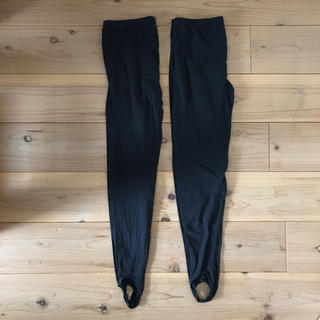 ムジルシリョウヒン(MUJI (無印良品))の無印良品 トレンカ 黒 XL 2本セット(レギンス/スパッツ)