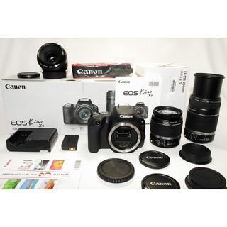 キヤノン(Canon)のEOS kiss X9 標準・望遠・単焦点!極上美品セット/Canon(デジタル一眼)