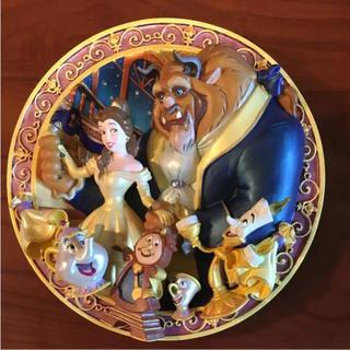ディズニー(Disney)の美女と野獣 3D絵皿(置物)