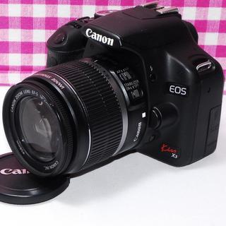 キヤノン(Canon)の⭐ドキドキ・ワクワク⭐Canon Kiss x3 レンズキット・カメラバッグ付き(デジタル一眼)