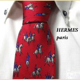 Hermes - 美品★エルメス★HERMES★高級ネクタイ★乗馬柄柄★希少品★