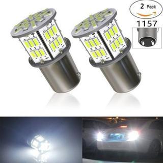LEDランプ 54連SMD シングル 汎用 ホワイト 2個セット(その他)