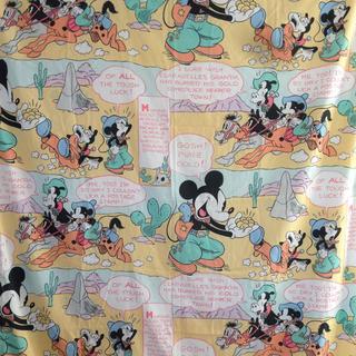 ディズニー(Disney)のミッキー カウボーイ柄 シーツ(生地/糸)