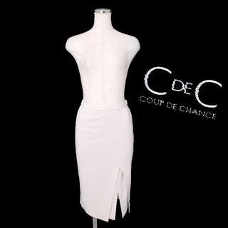 クードシャンス(COUP DE CHANCE)のCOUP DE CHANCE ダブルスリットジャージタイトスカート(ひざ丈スカート)