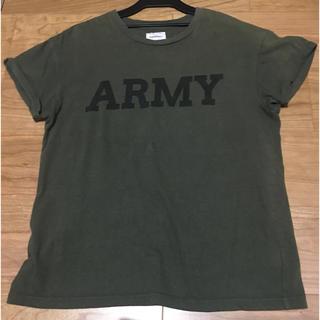 トゥデイフル(TODAYFUL)のtodayful ARMY Tシャツ カーキ(Tシャツ/カットソー(半袖/袖なし))