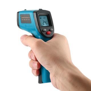 送料無料 非接触赤外線温度測定 青(その他)