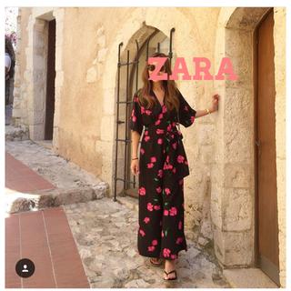 ザラ(ZARA)の新品  ZARA  ザラ  花柄  オールインワン  (オールインワン)
