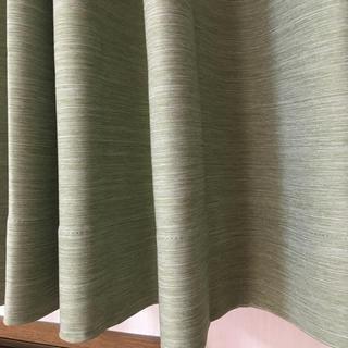 ニトリ - 未使用 ニトリ カーテン パレット イエローグリーン 横50×縦160