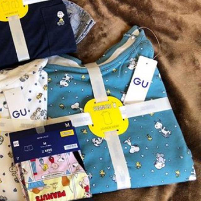 GU(ジーユー)の完売✩スヌーピーワンピース レディースのルームウェア/パジャマ(パジャマ)の商品写真