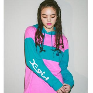 X-girl - X-girl 2018spring フーディ グレー