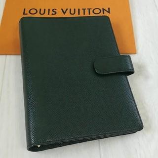 ルイヴィトン(LOUIS VUITTON)の【未使用に近い 正規品】ルイヴィトン 手帳mm タイガ(手帳)