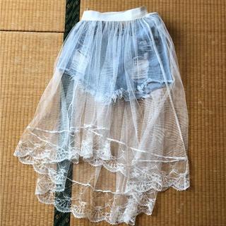 SPINNS - SPINNS レーススカート ショートパンツ