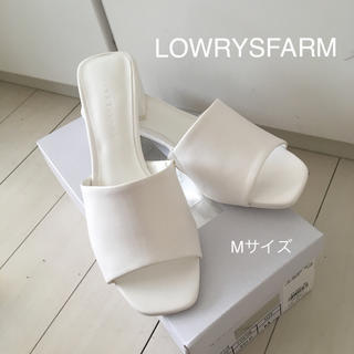 ローリーズファーム(LOWRYS FARM)の新品未使用☆ミュール ホワイト Mサイズ(ミュール)