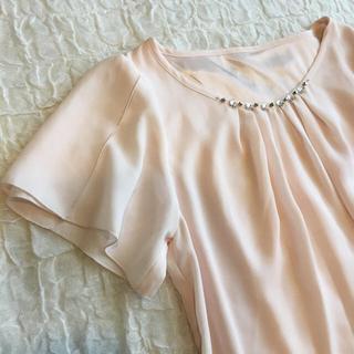 シマムラ(しまむら)の『新品・未使用』上品ピンクの柔らかプルオーバー(カットソー(半袖/袖なし))