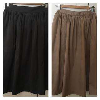 ザラ(ZARA)の2着セット ZARA & UNIQLO ギャザースカート Mサイズ(ロングスカート)