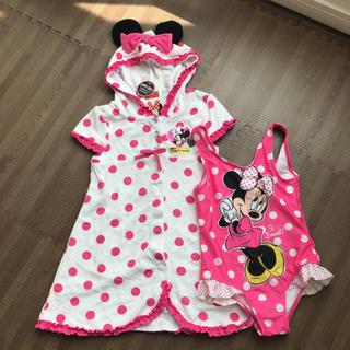 ディズニー(Disney)の新品未使用タグ付き!ミニー 水着とパイル地サマードレス ディズニー 5T(水着)