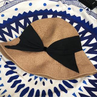BARNEYS NEW YORK - アッシーナニューヨーク RISAKO リボンハット  帽子 ストローハット