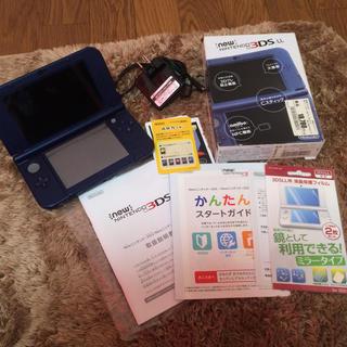 ニンテンドー3DS - 美品 任天堂 NEW3DSLL メタリックブルー セット
