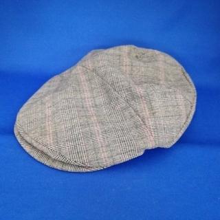 カシラ(CA4LA)のカシラ CA4LA ハンチング帽子 チェック柄 Mサイズ(ハンチング/ベレー帽)
