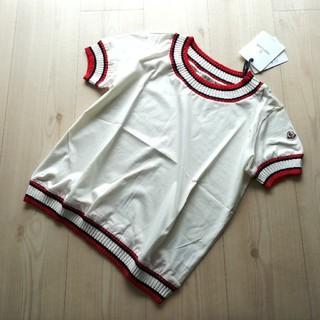 MONCLER - サイズXS ホワイト トリコロールリブのTシャツ モンクレール