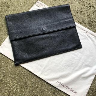 エルゴポック(HERGOPOCH)のエルゴポック クラッチバック 黒色(セカンドバッグ/クラッチバッグ)