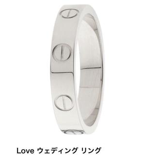 カルティエ(Cartier)のカルティエ 正規品 WG 48 ラブリング 指輪 8号 リング(リング(指輪))